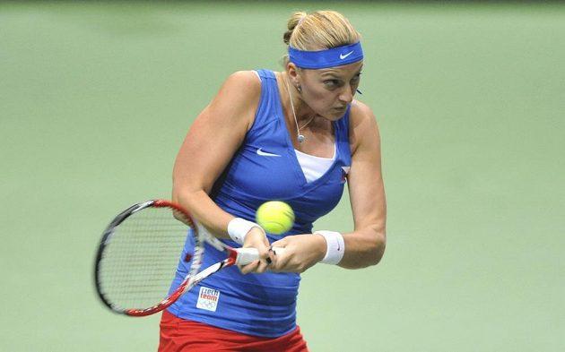 Petra Kvitová během zápasu s Italkou Giorgiovou.