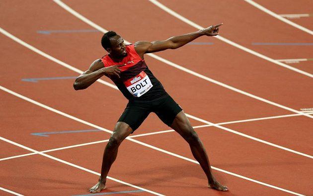 Typické gesto Jamajčana Usaina Bolta.
