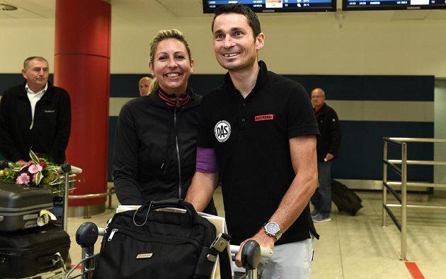 Handicapovaný cyklista Jiří Ježek s manželkou Soňou.
