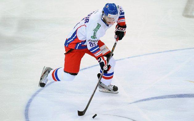 Český forvard Tomáš Vincour během utkání Channel One Cupu Finsku.