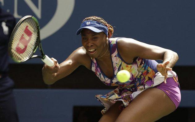 Venus Williamsová v osmifinálovém utkání US Open.