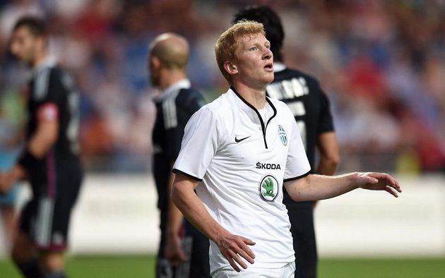 Smutný mladoboleslavský záložník Jan Šisler po utkání 3. předkola Evropské ligy s Lyonem.