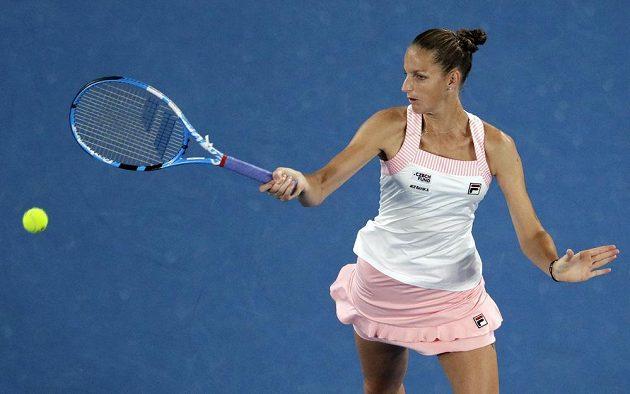 Karolína Plíšková při utkání s Japonkou Naomi Ósakaovou na finále v Melbourne nedosáhla.