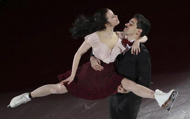 Italové Anna Cappelliniová a Luca Lanotte při závěrečné exhibici.