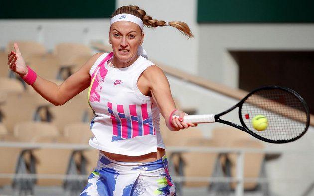 Petra Kvitová v zápase proti Němce Lauře Siegemundové