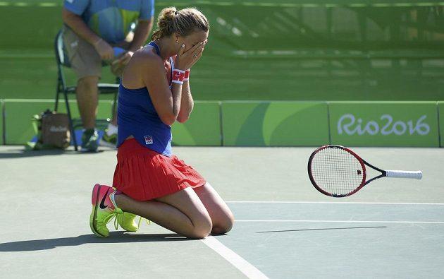 Je dobojováno! Petra Kvitová získala pro českou výpravu třetí bronzovou medaili.
