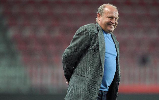 Trenér Znojma Leoš Kalvoda během utkání osmifinále Poháru České pošty na Spartě.