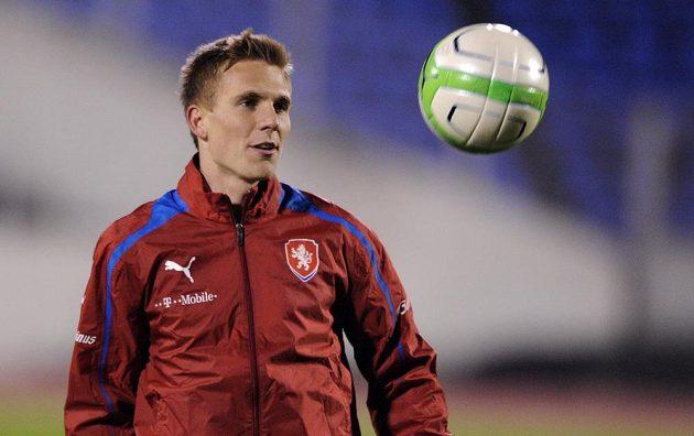 Záložník Bořek Dočkal během úterního tréninku české fotbalové reprezentace před přátelským utkáním s Kanadou.