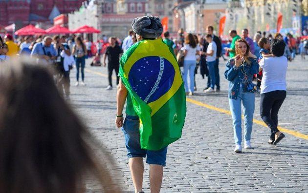 Brazilský fanoušek během MS v Rusku.
