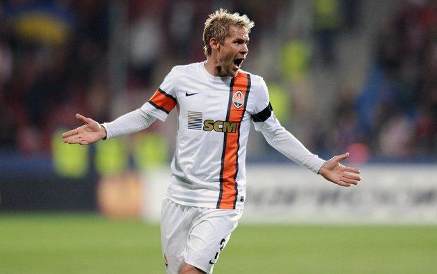 Tomáš Hübschman ještě v dresu Šachtaru Doněck, s nímž hrával evropské poháry pravidelně.