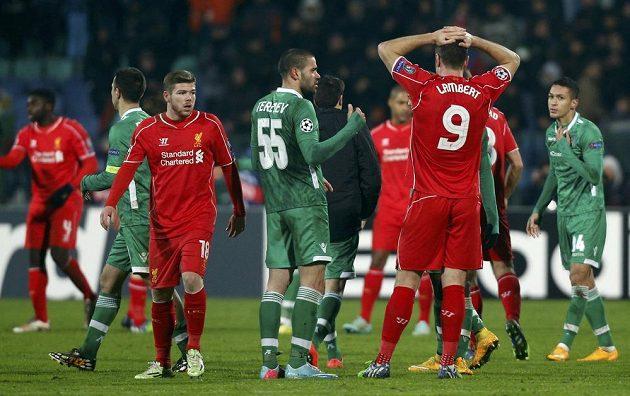 Fotbalisté Liverpoolu přišli o vítězství nad Razgradem až dvě minuty před koncem.