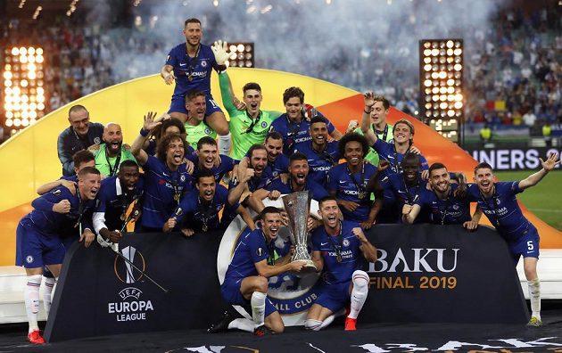 Finále Evropské ligy v Baku ovládala Chelsea.