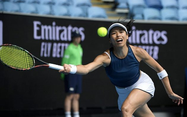 Tenistka Sie Šu-wej z Tchaj-wanu postoupila do čtvrtfinále Australian Open, když vyřadila Markétu Vondroušovou.