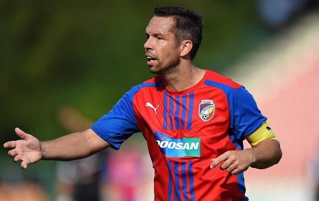 Záložník Viktorie Plzeň Pavel Horváth během utkání 1. kola Synot ligy v Příbrami.