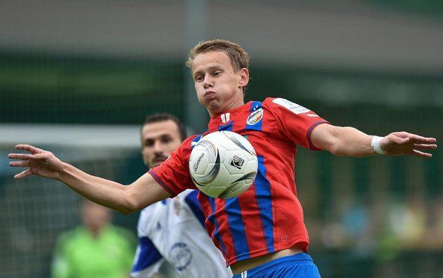 Plzeňský Jan Chramosta během přípravného utkání s Karabachem v rakouském Westendorfu.