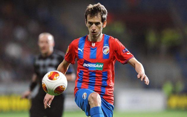 Plzeňský záložník Tomáš Hořava během utkání osmifinále Evropské ligy proti Lyonu.