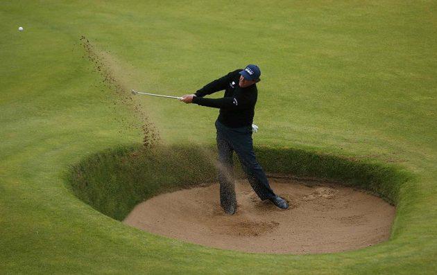 Americký golfista Phil Mickelson na British Open.