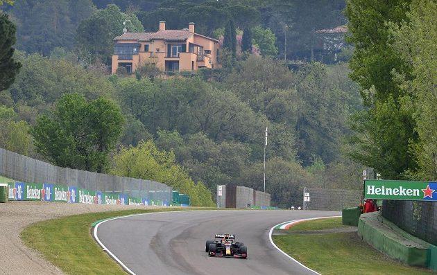 Max Verstappen při GP Emilie Romagny.
