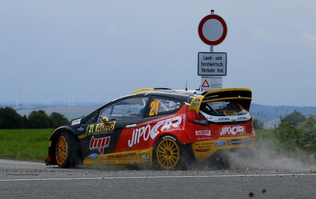 Martin Prokop s Fordem Fiesta WRC během Německé rallye 2014.