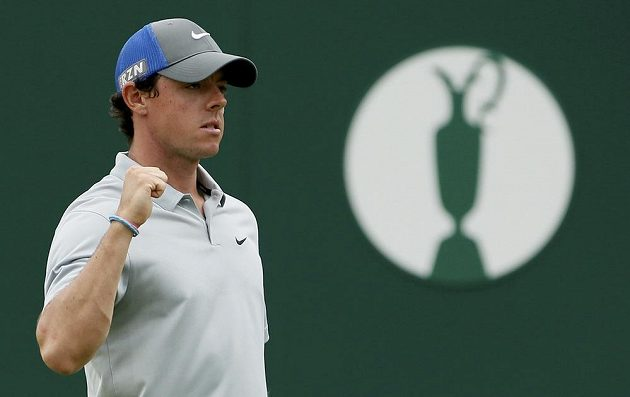 Rory McIlroy při British Open.