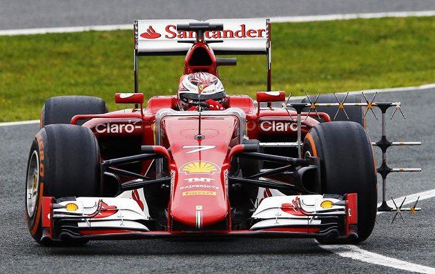 Kimi Räikkönen během testování v Jerezu.