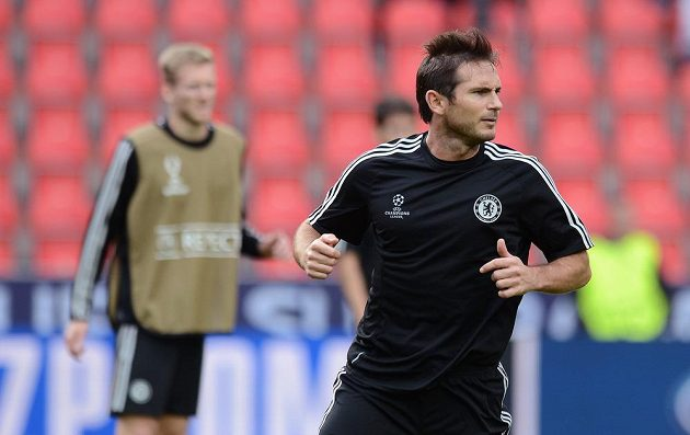 Frank Lampard na tréninku, ještě coby hráč Chelsea.