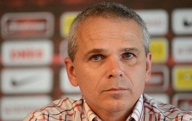 Trenér Sparty Vítězslav Lavička.