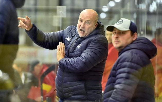 Trenér hokejového Havířova Jiří Režnar a kustod Vladislav Kozel.