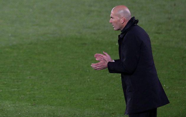 Kouč Realu Madrid Zinedine Zidane v úvodním semifinále Ligy mistrů.