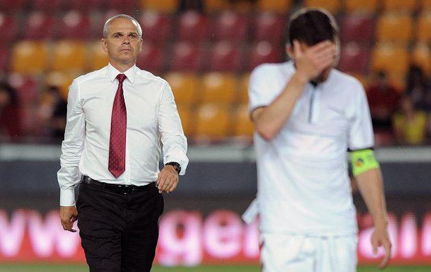 Trenér Sparty Praha Vítězslav Lavička po utkání 2. předkola Evropské ligy s BK Häcken.