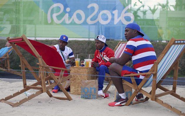 Kubánci v olympijské vesnici.
