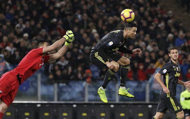 Hvězda Juventusu - Cristiano Ronaldo - v akci.