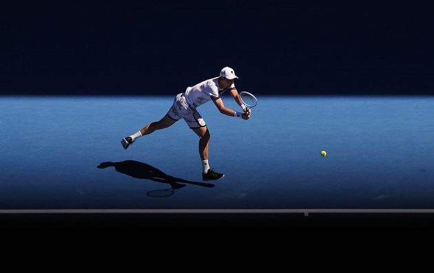 Tomáš Berdych v osmifinále Australian Open.