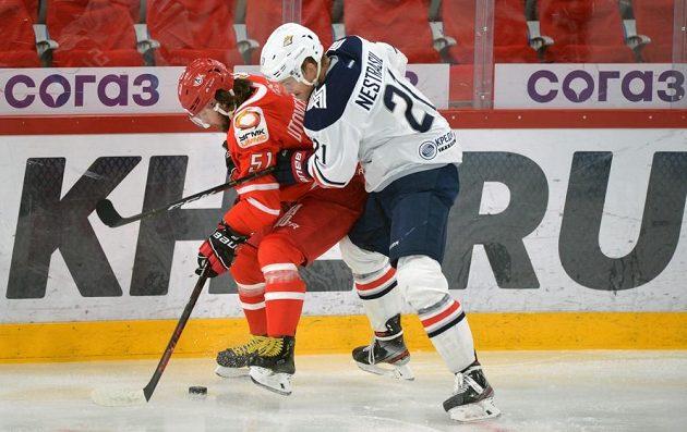 Gól a přihrávka Andreje Nestrašila pomohly magnitogorským hokejistům vyhrát