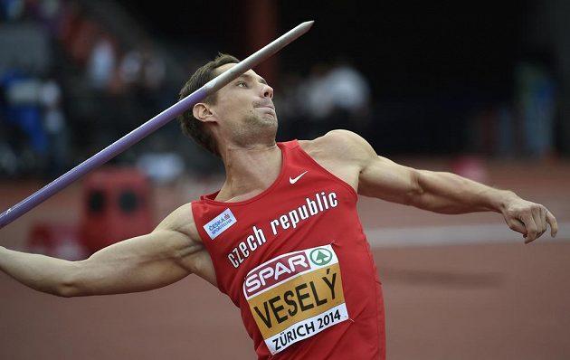 Oštěpař Vítězslav Veselý obsadil v kvalifikaci sedmé místo.