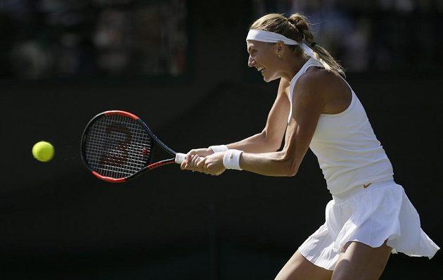 Petra Kvitová v utkání prvního kola se Sasnovičovou
