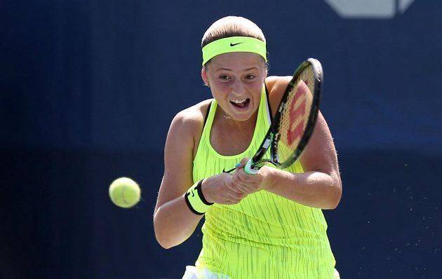Lotyšská tenisová naděje Jelena Ostapenková.