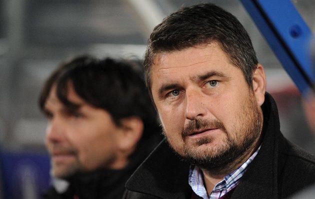 Nový olomoucký trenér Zdeněk Psotka během utkání s pražskou Spartou.