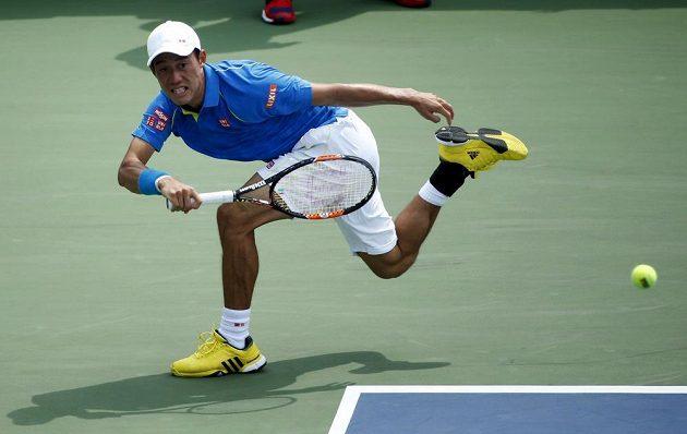 Japonec Kei Nišikori skončil na US Open už v prvním kole.