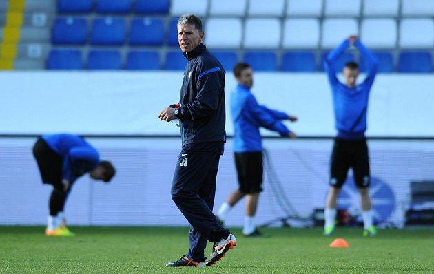 Trenér Slovanu Liberec Jaroslav Šilhavý během tréninku
