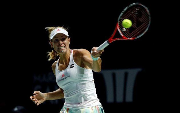 Německá tenistka Angelique Kerberová během finále Turnaje mistryň.