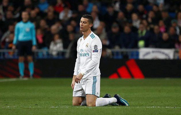 Cristiano Ronaldo z Realu během utkání s Dortmundem.