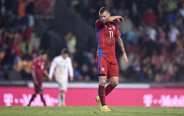 Český záložník Daniel Pudil po skončení přátelského zápasu s USA.