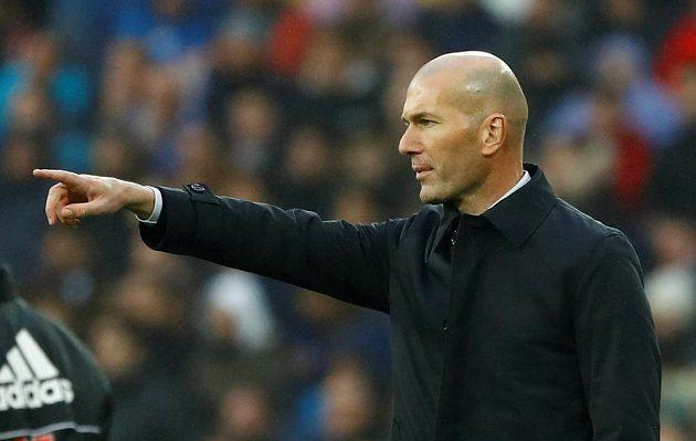 Trenér fotbalového Realu Madrid Zinédine Zidane.