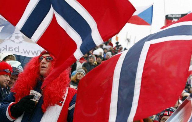 Fanoušci z Norska se na závod pečlivě připravili...