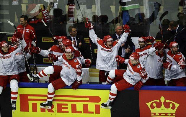 Dánská radost po triumfu nad Finskem.