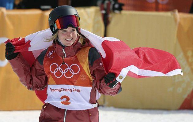 Kanadská akrobatická lyžařka Cassie Sharpeová se stala olympijskou vítězkou v U-rampě.