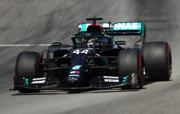 Pilot formule jedna Lewis Hamilton během Velké ceny Španělska.