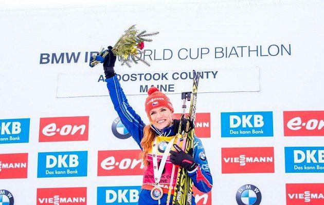 Vítězná Gabriela Soukalová.