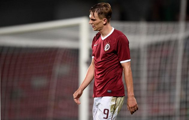 Sparťanský záložník Bořek Dočkal během utkání 4. kola Synot ligy s Baníkem Ostrava.